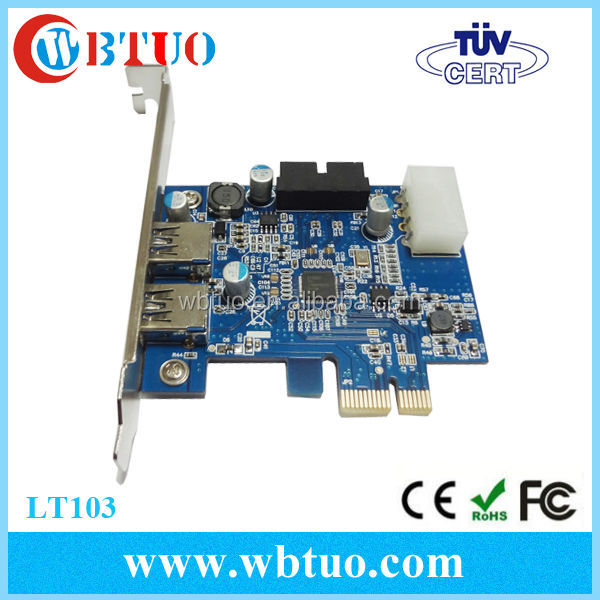 Usb 3.0 2-port Pci-e Expander Card With Internal Usb 3.0 20-pin ...