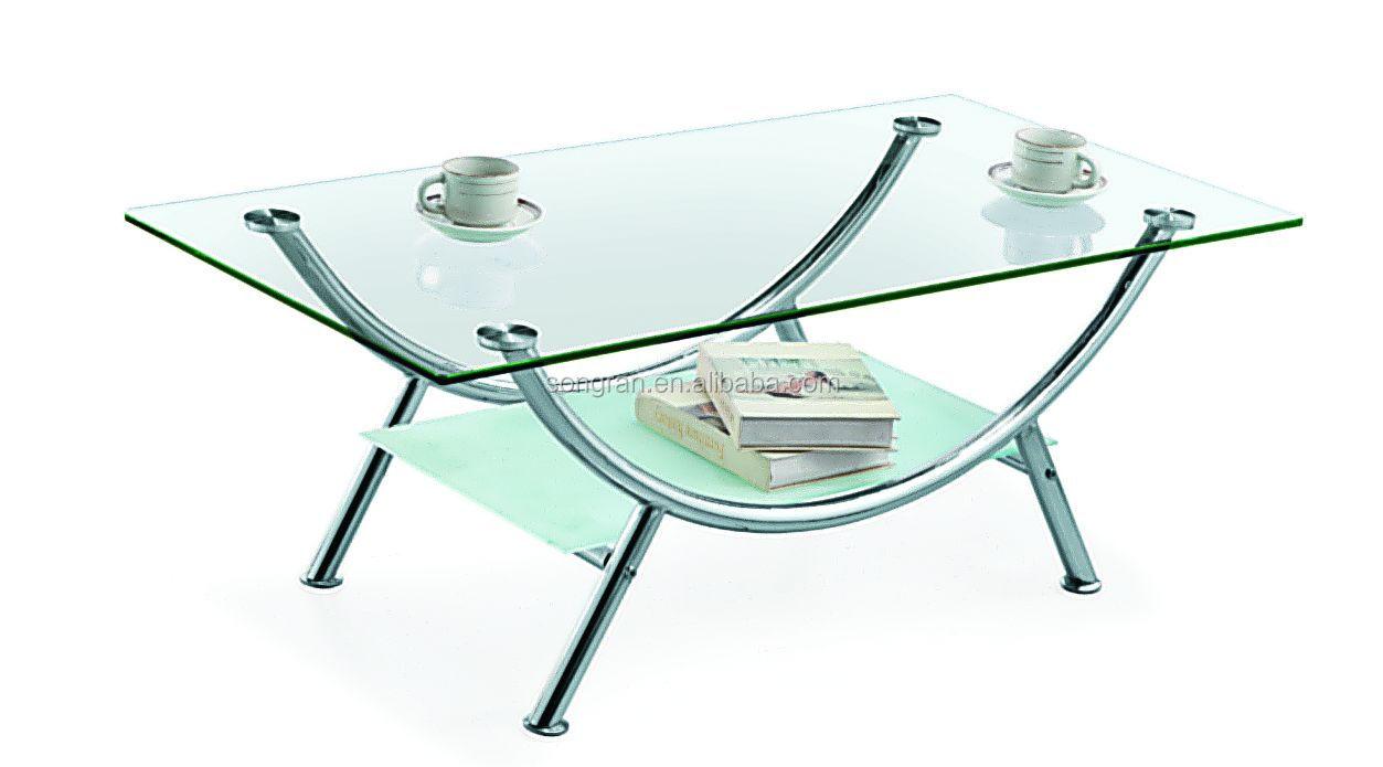 Tea table design furniture - Modern Design Good Quality Metal Glass Tea Table Side Table 309