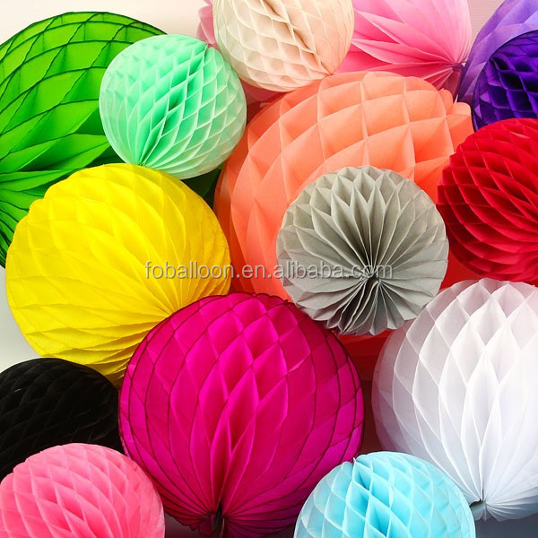 15 to 40 cm Wholesale Wedding Table Centrepiece Honeycomb Tissue Paper Balls