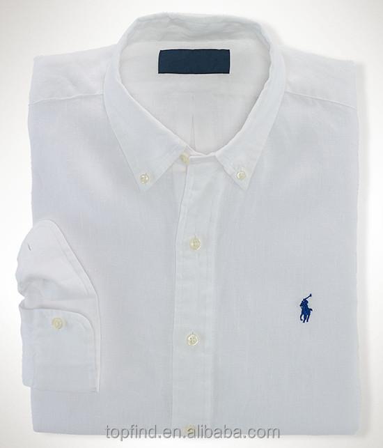 Fashion Deep Blue,White Polo Branded,Soft,Breathable Linen Shirt ...