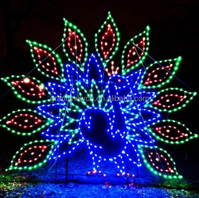 Led Wild Peacock Zoo Lights For Xmas Illumination And Decorations ...