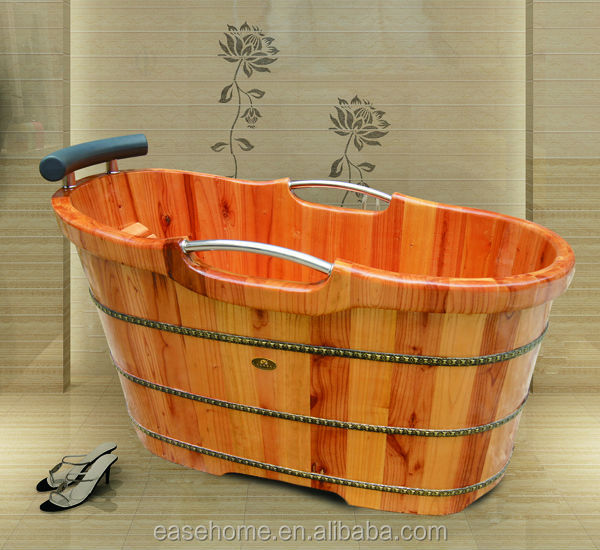 Portable Wooden Bathtub