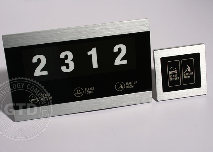Tempered Glass Alloy Hotel Electronic Room Number Door