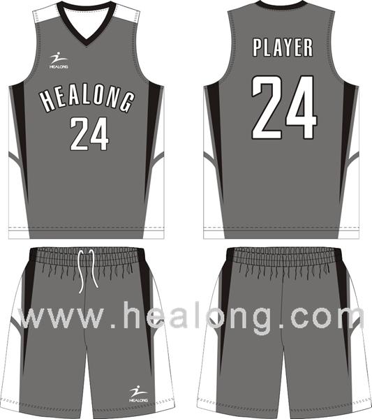 black and gray basketball jersey
