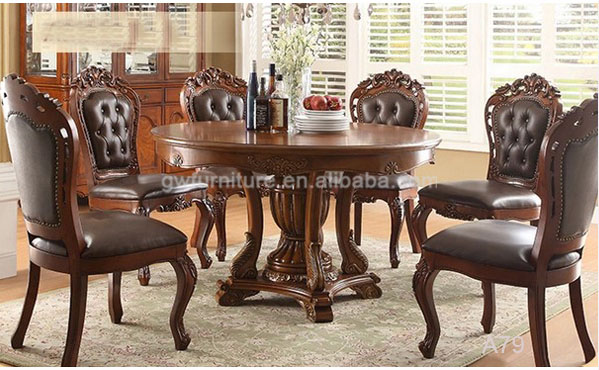 Classic Italian Dining Room Sets With Leather Dining Chair