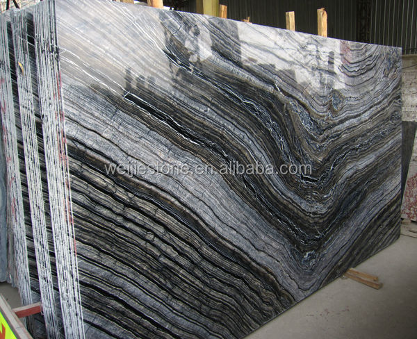 Black serpeggiante marble slab and tiles book match marble for Match the ocean floor feature with its characteristic