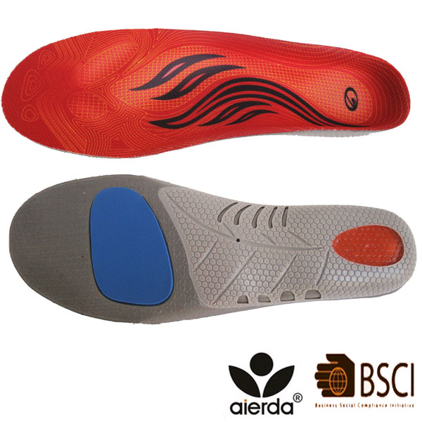 Hot Selling Genuine Leather Comfort Shoe Arch Support Inserts