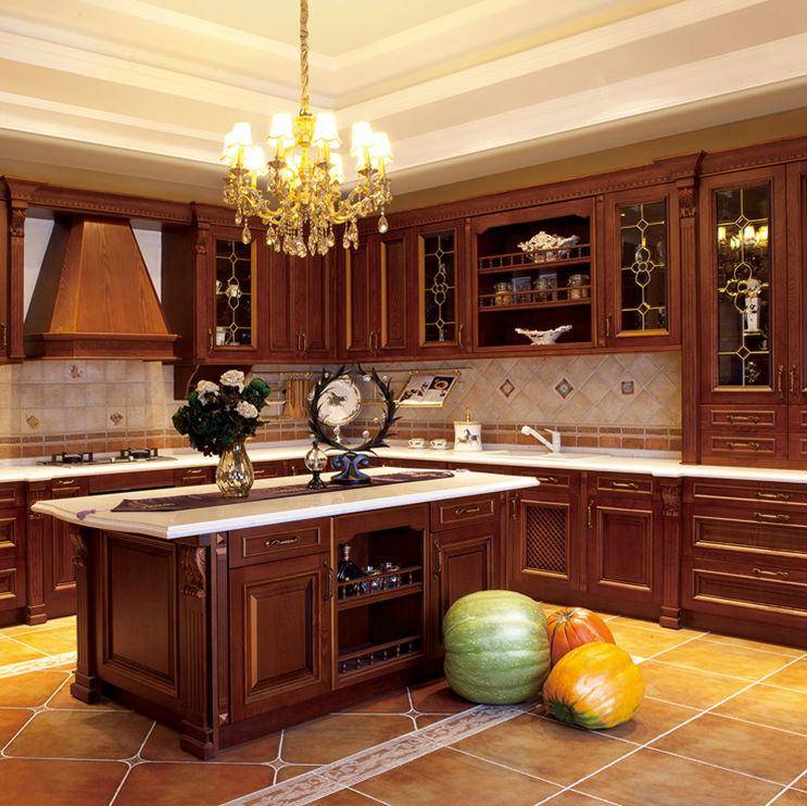 Modern Solid Wood Kitchen Cabinet European Style, View European