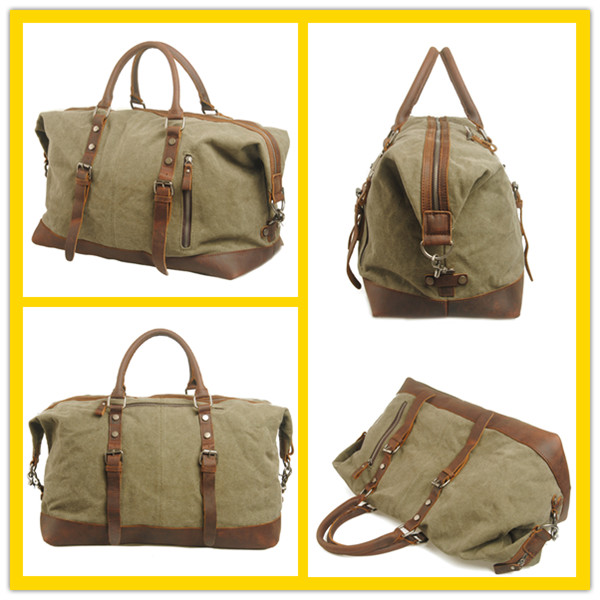 4ad7dcdf26 861 Best Selling Vintage Men s Waxed Canvas Waterproof Motorcycle Duffel Bag  with Leather Trim