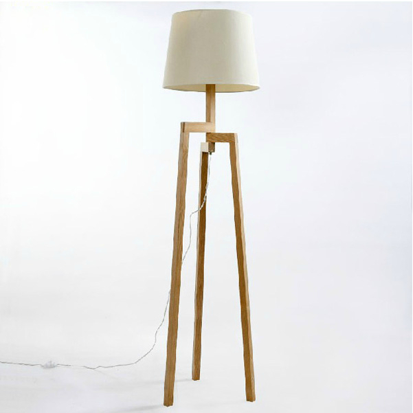 Modern wooden living room floor standing lamp buy floor for Modern floor lamps living room