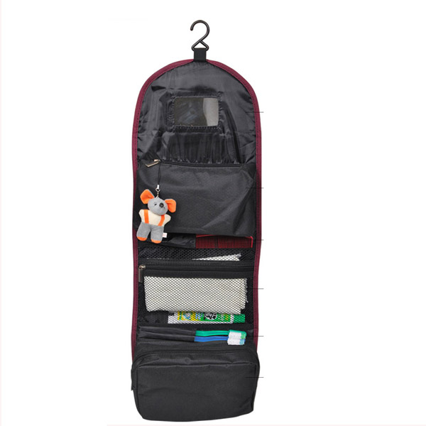 New Fashion Design Mens Travel Wash Bag Hanging Folding Toiletry With Mirror And
