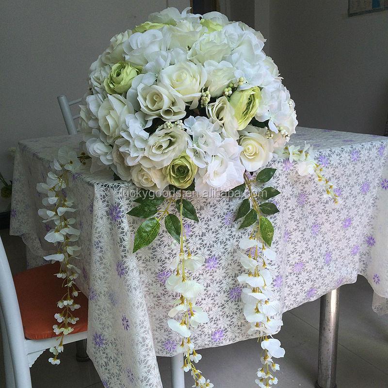 40cm High Quality Decprativ White Artificial Flower Wedding