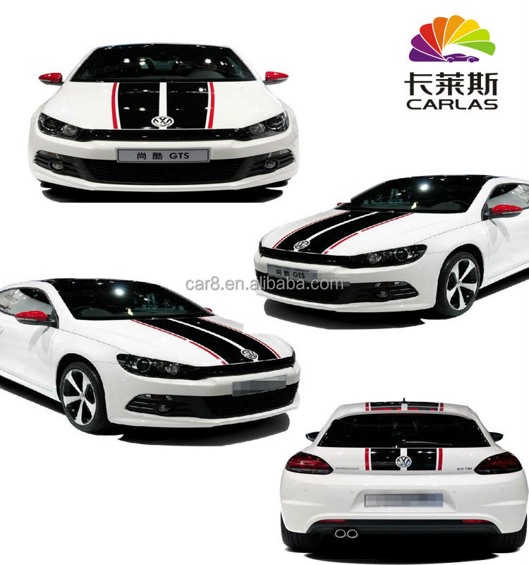 Carlas racing car striping hood decals roof decals line for car