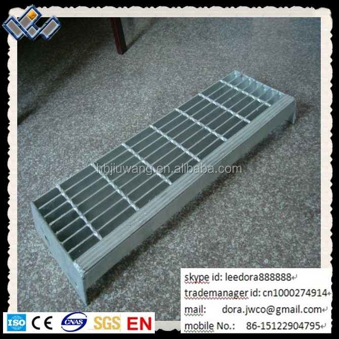 Hot Dipped Galvanized Industry Composite Steel Stairs Tread ISO9001