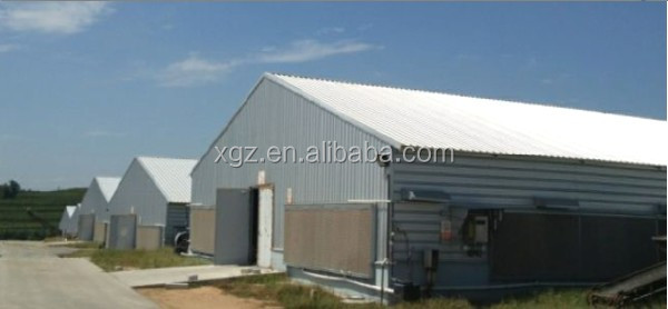 low cost light steel frame poultry house prefab steel chicken farms