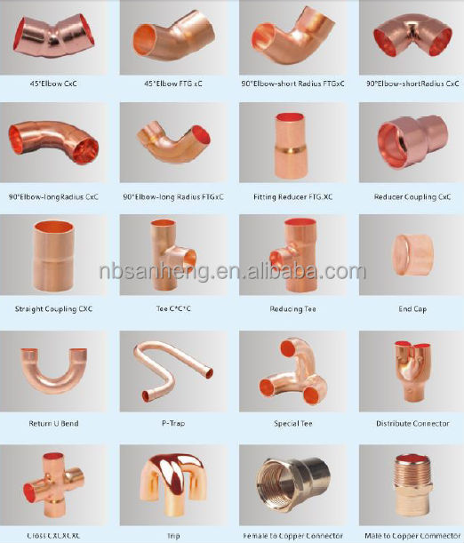 Copper tube fittings coowor