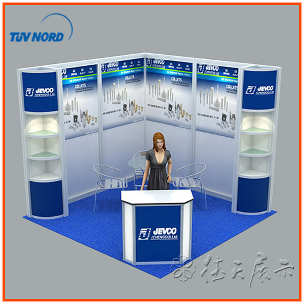 Exhibition Stall Panels : Custom double exhibition booth stall design in china for