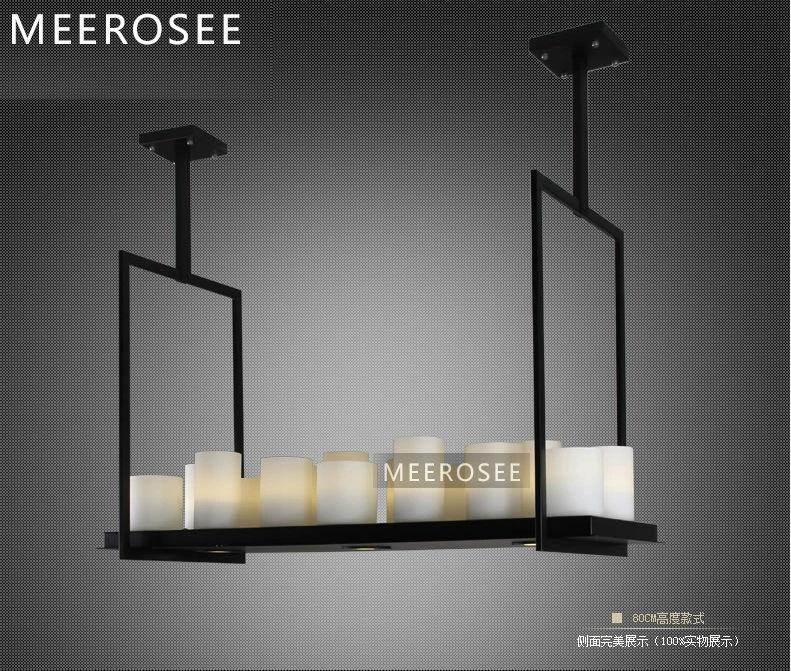 Top Moderne Rechthoek Ophanging Licht,Glas Hanglamp,Warm Armatuur PK99