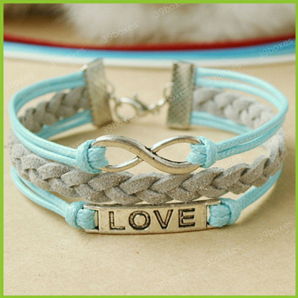 Whole Diy Infinity Bracelet Handmade Eternal Love