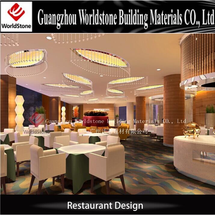 Restaurant table sets western interior design