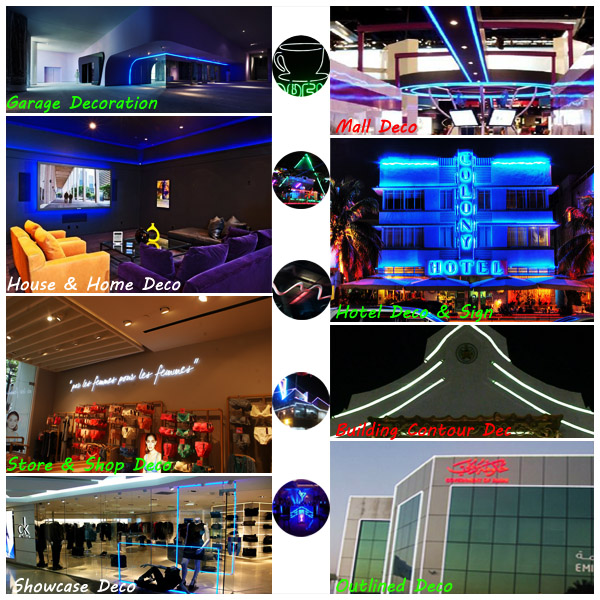 warm white color led neon tube, pvc material neon flex