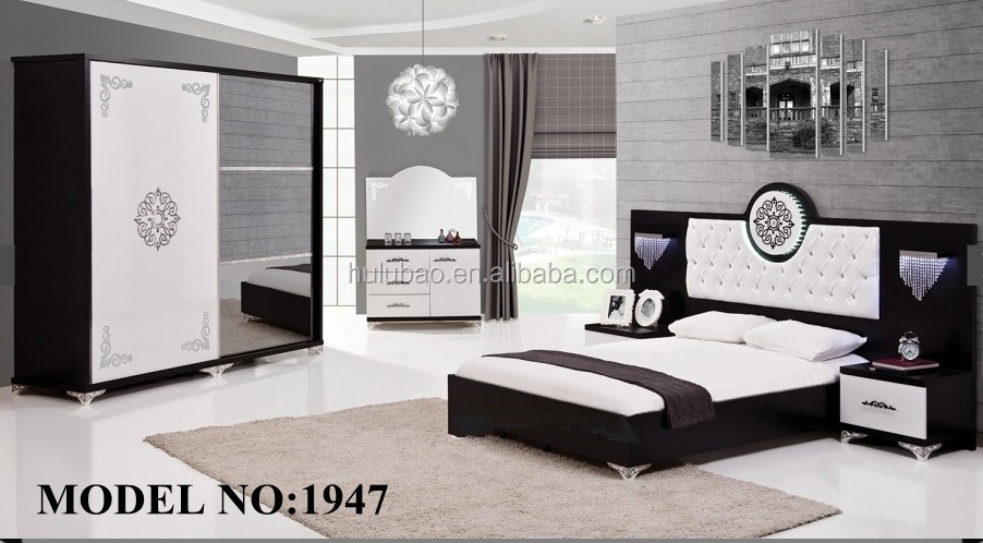 Luxury Mdf White Adult Bedroom Set Furniture 1947 - Buy Adult ...