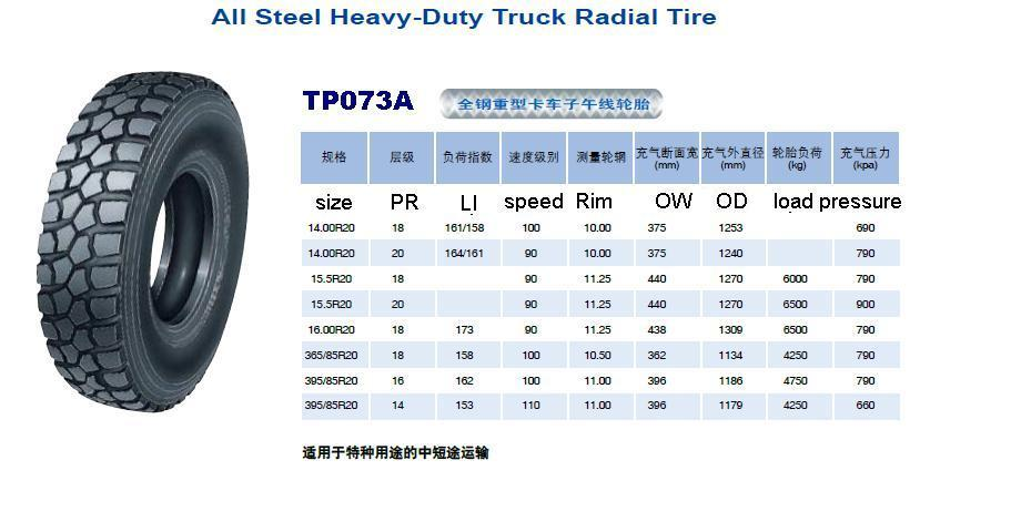 395/85r20 Tyre For Bedford Truck