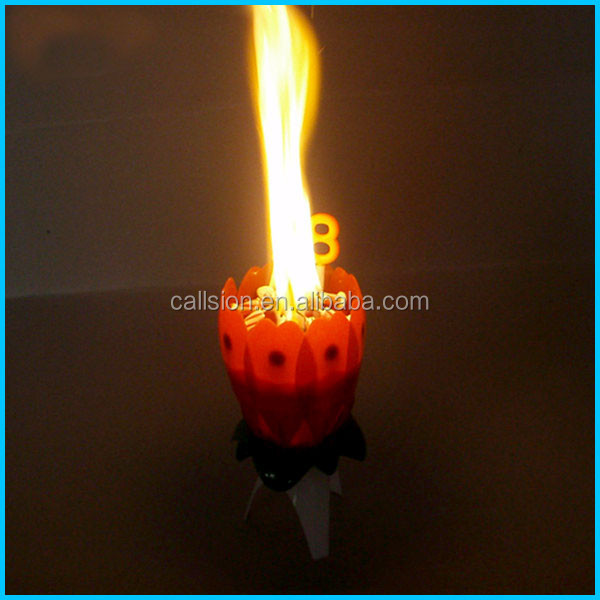 sparking birthday candle