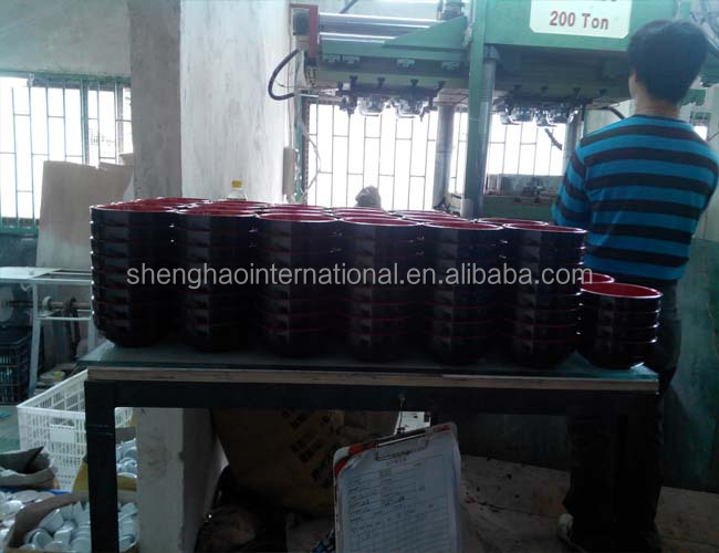 High frequency preheating machine for melamine tableware forming