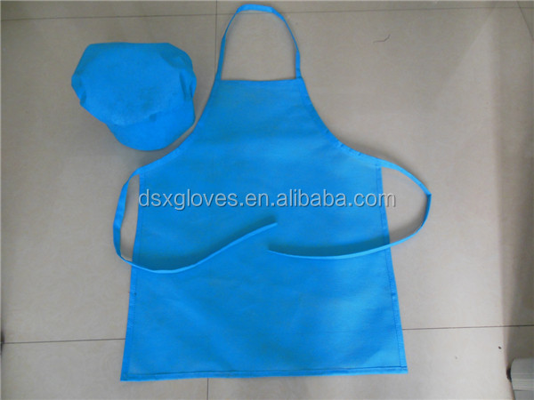 Disposable Non Woven Apron Set Kids Aprons And Chef Hats