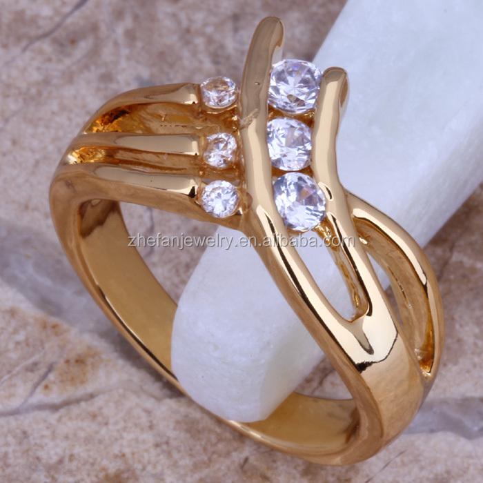 Men Wedding Bands Gold Finger Rings Cz Imitation Jewellery