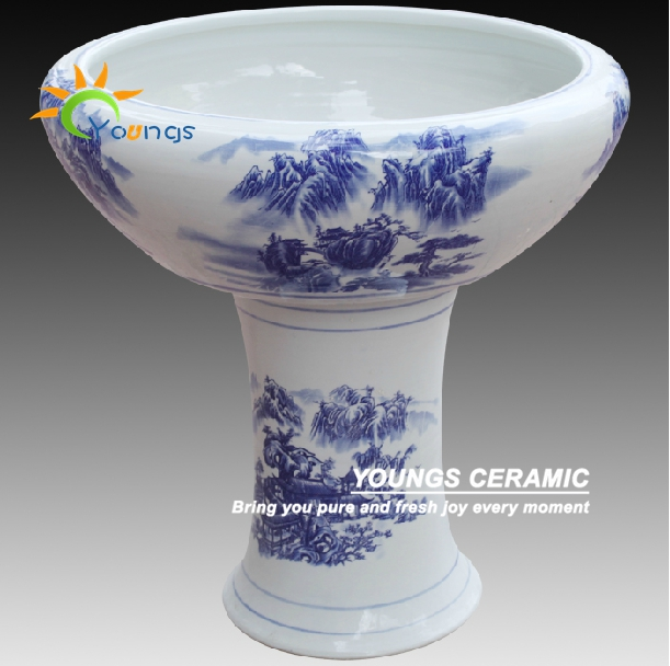 Various Chinese Hand Painted Ceramic High Heel Flower Pot