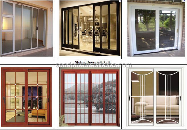 Lovely Sliding Doors/garden Sliding Door/aluminium Slide Door/Aluminum Sliding Door  With Double