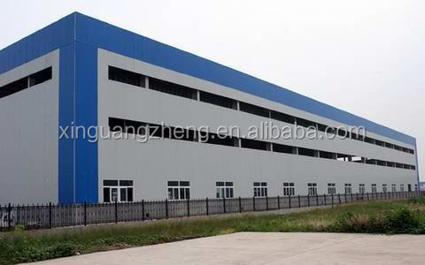 large span light steel truss frame warehouse