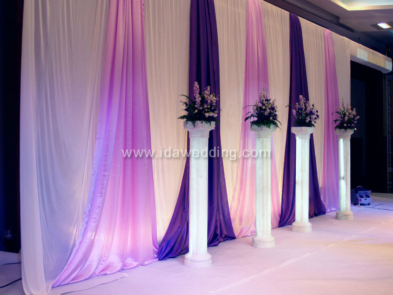 Violet Whole Masquerade Wedding Lobby Wall Decoration Curtain ...