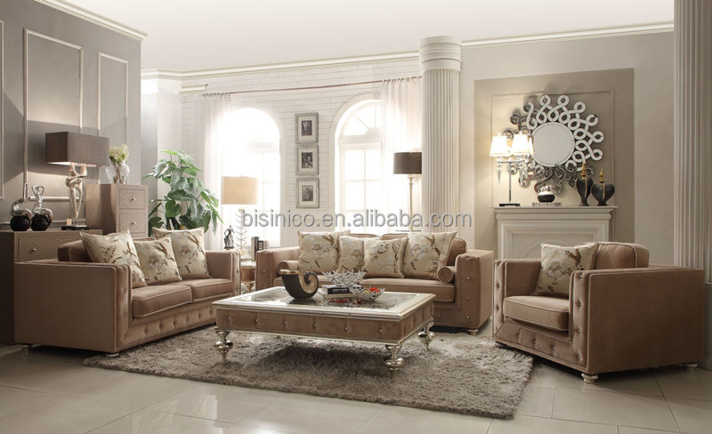 Classic Style Royal Sofa SetsVintage Living Room Sofa ChairHand