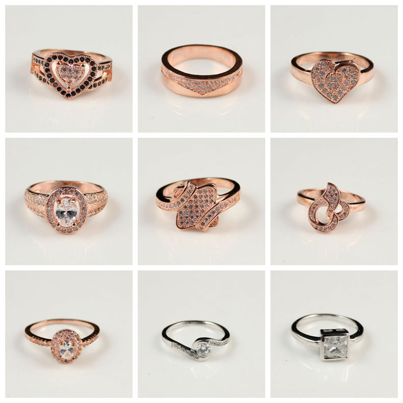 Rose Gold Plated Big e Single Stone Ring Designs For Men and