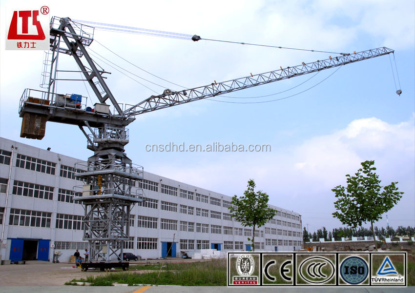 Hot Sale QTD80 6T Luffing Tower crane