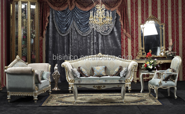 Vintage Retro Round Chair Sofa, Golden Round Throne Sofa, Royal Living Room  Furniture Set Part 98
