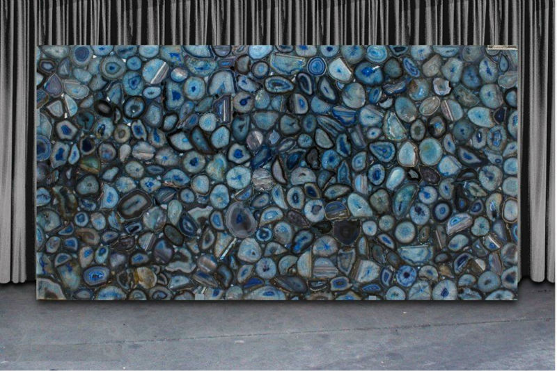 Blue Agate Panel Backlit Agate Countertop