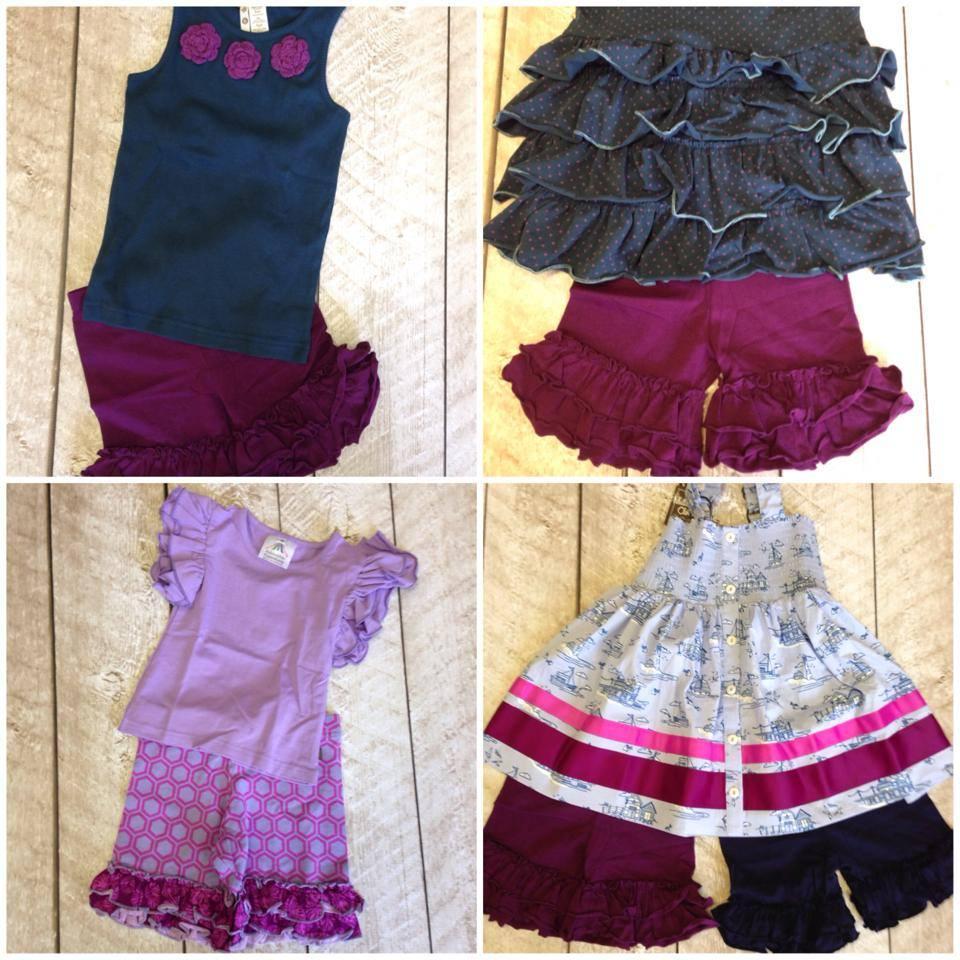 Fashion Summer Teen Girl Clothing Set Chevron Ruffle Girls Easter ...