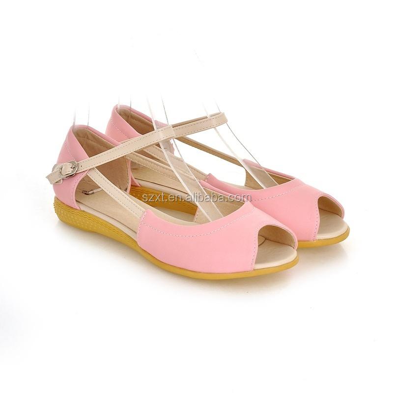 Fancy Women New Design Flat Heel Shoes Open Toe Soft Sole Shoes ...