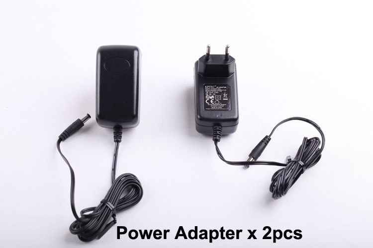 (For B2000,B3000) Power Adapter for Robot Vacuum Cleaner , European Type,Two Pin,Round Shape, 2pcs/pack