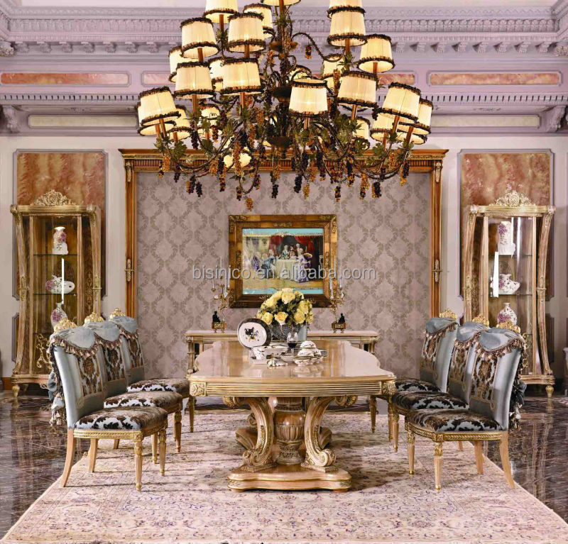 Bisini Furniture Luxury Long Dining Table For Big Family Luxury