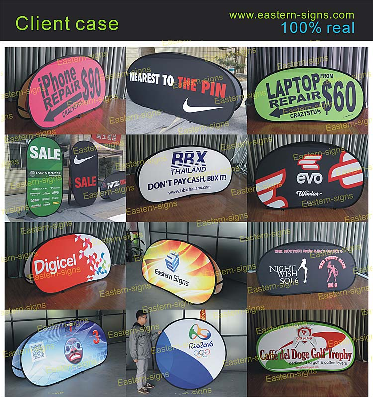 Outdoor Advertising Pop Up Fabric Signs