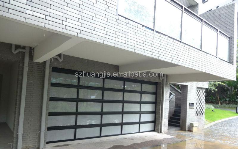 Auto Frosted Folding Glass Garage Door Aluminium Profile