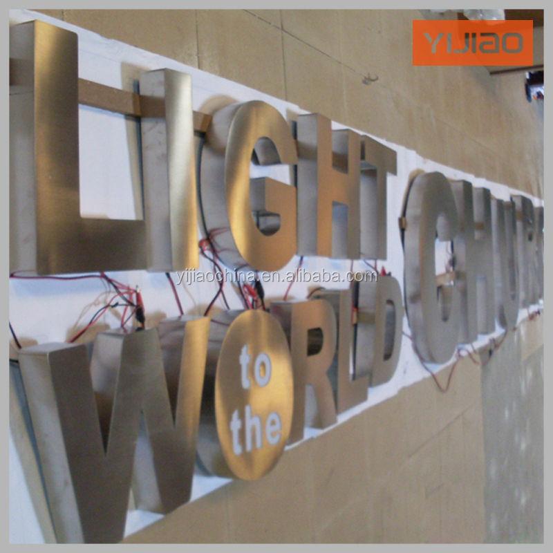 diy big lighted led metal letters sign