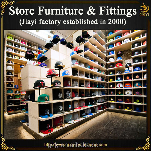 Fashion Wood Stand Baseball Hat Display For Retail Cap Store Interior ...