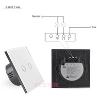 2 Gang Wall Touch Light Switch,Home Smart Electric Light Switch ...
