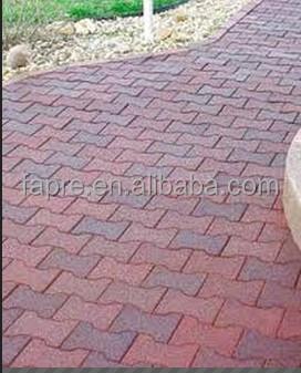 anti-skid dog-bone shape paver interlocking rubber tile horse dog